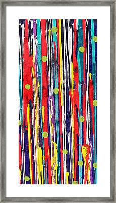 Framed Print featuring the painting Polka Dot Pour by Carolyn Repka