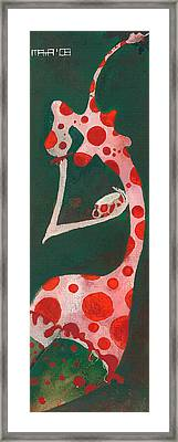 Framed Print featuring the painting Polka Dots by Maya Manolova