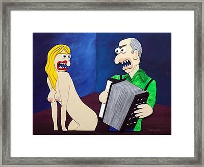 Polka Framed Print by Sal Marino