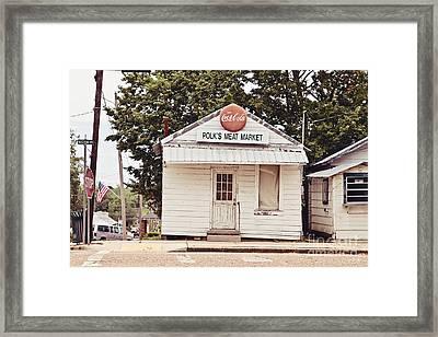 Polk's Meat Market Framed Print by Scott Pellegrin
