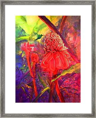 Pollen Framed Print by Estela Robles