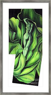 Framed Print featuring the painting Pollination by Fei A