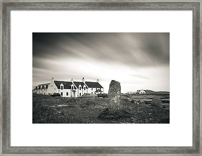 Pollochar Inn And Standing Stone Framed Print