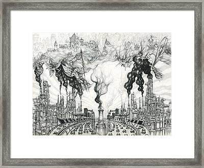 Pollution Rebellion Framed Print by Alma