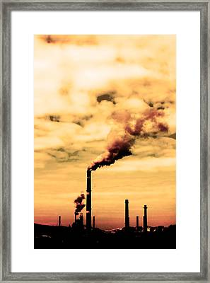 Pollution Smoke Framed Print by Boyan Dimitrov
