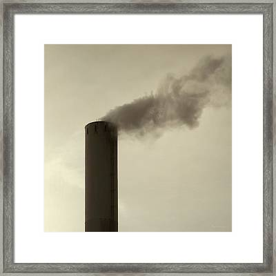 Pollution Framed Print by Wim Lanclus