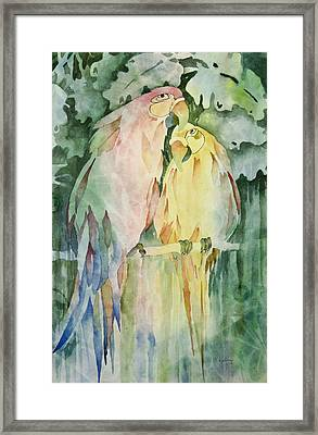 Polly And Cracker Framed Print