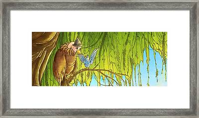 Polly And Her Friend, Elfie Framed Print