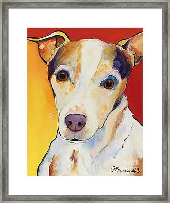 Polly Framed Print by Pat Saunders-White
