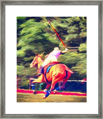 Polo Game 2 Framed Print