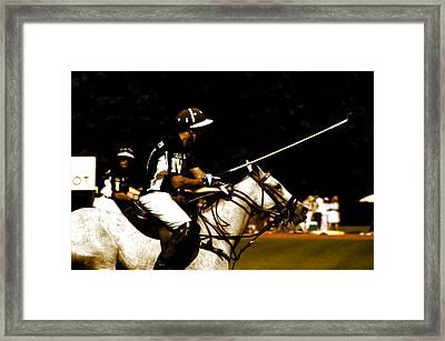 Polo Captain Framed Print