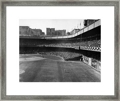 Polo Grounds, During The First Game Framed Print