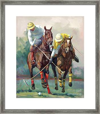 Polo Hein Framed Print by Laurie Hein