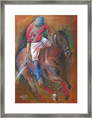 Polo Player Framed Print by Vered Thalmeier