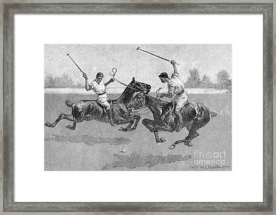 Polo Players Framed Print by Frederic Remington