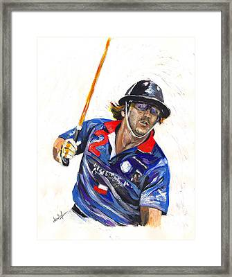 Framed Print featuring the painting Polo Portrait by Debora Cardaci