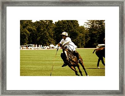 Polo Rider Framed Print