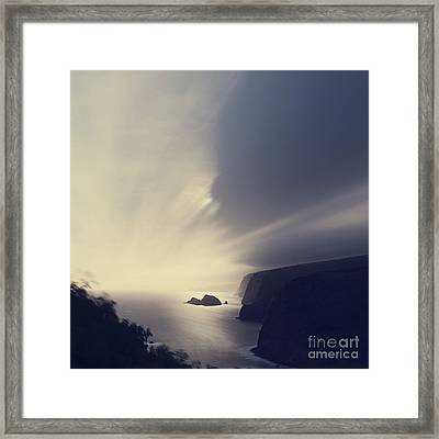 Pololu Valley Moonrise - Hipster Photo Square Framed Print