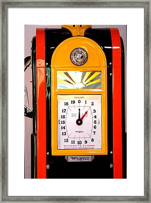 Poly Antique Gas Pump Framed Print