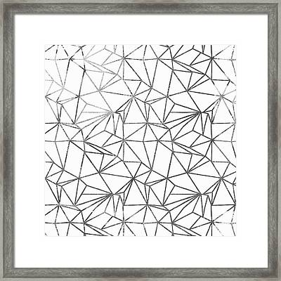 Poly Universe Framed Print by Mindy Sommers