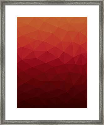 Polygon Framed Print by Mike Taylor