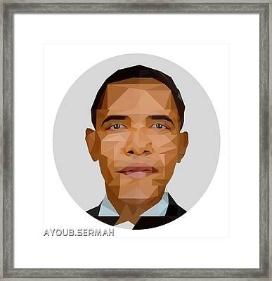 Polygonal Portrait  Framed Print