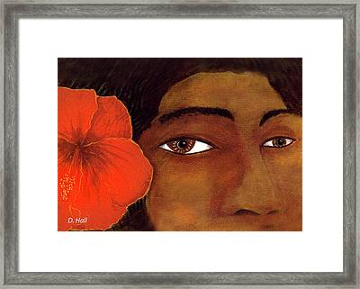 Polynesian Girl #67 Framed Print by Donald k Hall