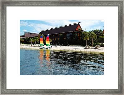 Polynesian Resort Beach Walt Disney World Prints Framed Print