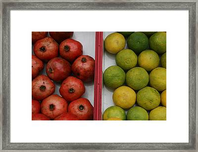 Pomegranate And Sweet Lime Framed Print by Deepak Pawar