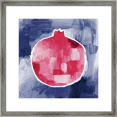 Pomegranate- Art By Linda Woods Framed Print by Linda Woods