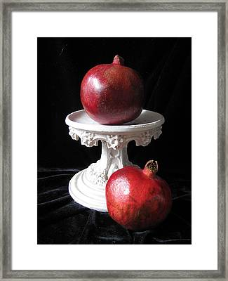 Pomegranate Deux Framed Print by Lindie Racz