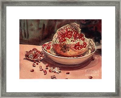 Pomegranate Framed Print by Donald Maier