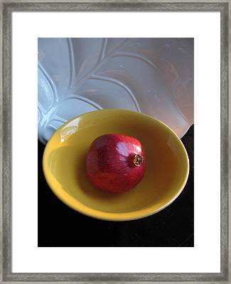 Pomegranate Framed Print by Lindie Racz