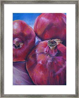 Pomegranate Power Framed Print