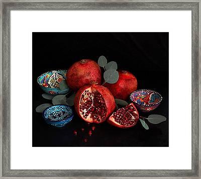Pomegranate Power Framed Print