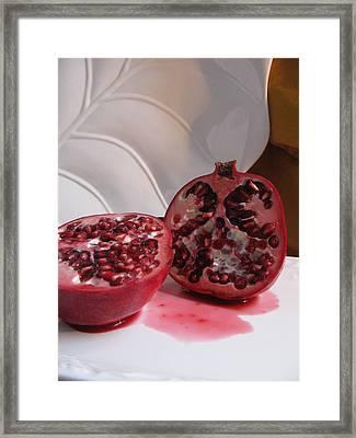 Pomegranate Slice Framed Print