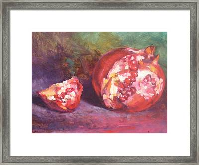 Pomegranate Framed Print by Susan Jenkins