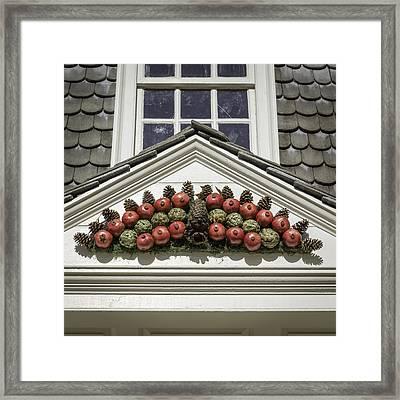 Pomegranate Swag Squared Framed Print