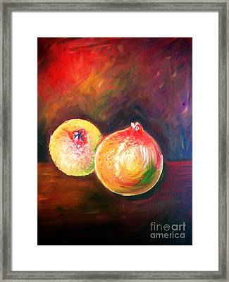 Pomegranates From My Garden Framed Print by Anastasis  Anastasi