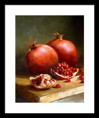 Pomegranate Paintings Framed Prints