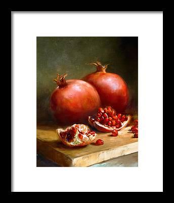 Red Fruit Framed Prints