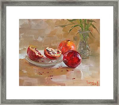 Pomegranates Framed Print by Ylli Haruni