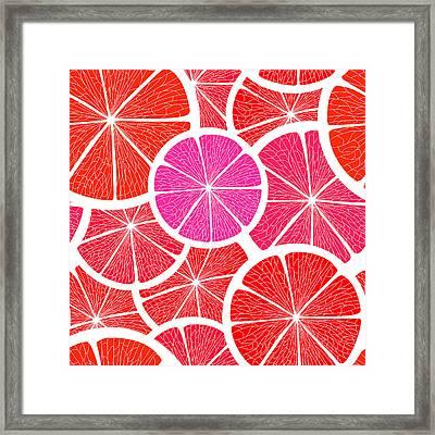 Pomelo Fruit Framed Print