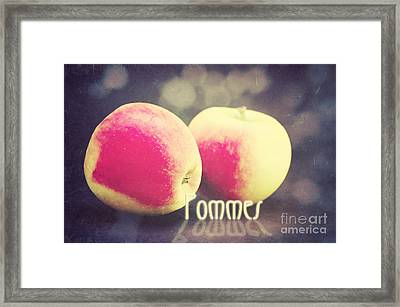 Pommes Framed Print by Angela Doelling AD DESIGN Photo and PhotoArt
