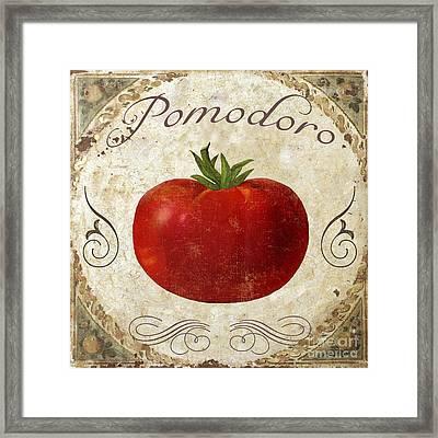 Pomodoro Tomato Italian Kitchen Framed Print by Mindy Sommers