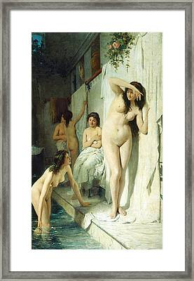 Pompeian Bath Framed Print by Giuseppe Barbaglia