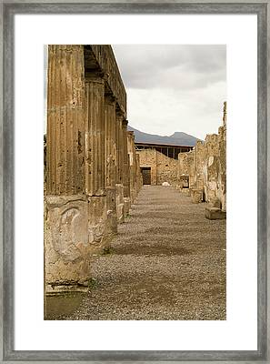Framed Print featuring the photograph Pompeii Columns by Michael Flood