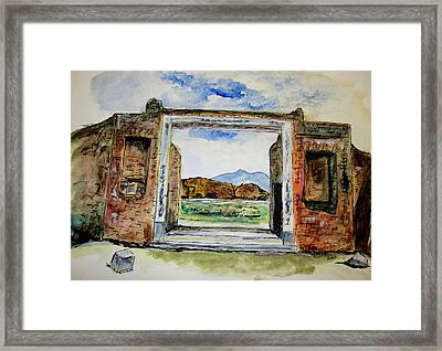 Pompeii Doorway Framed Print