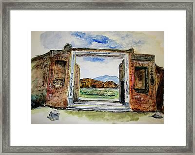 Pompeii Doorway Framed Print by Clyde J Kell