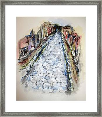 Pompeii Road Framed Print